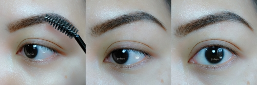 4 brush the filled eyebrow and done