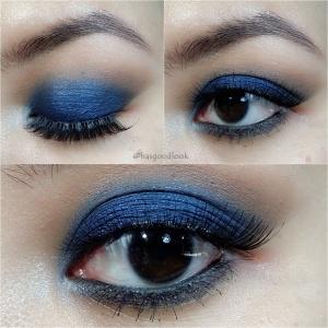 deep blue smokey eyes