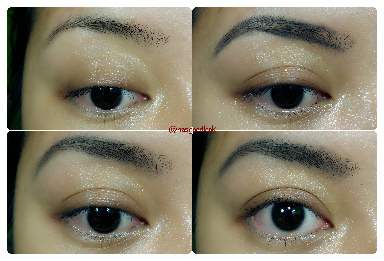 eyebrow shadow. eyebrow using sariayu pencil alis shadow a