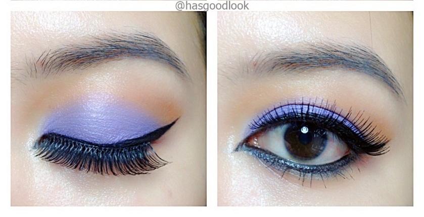 neutral cut crease with purple tone